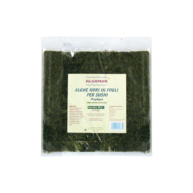 Alge nori pentru sushi raw 25g, Algamar