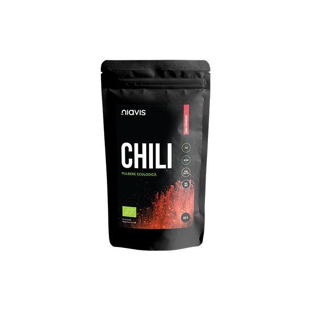 Chili pulbere Ecologica/Bio 60g, Niavis