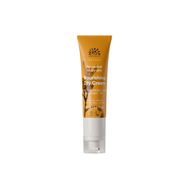 Crema faciala hidratanta zi ten normal/uscat cu portocale, ulei cocos si acid hyaluronic 50ml, Urtekram