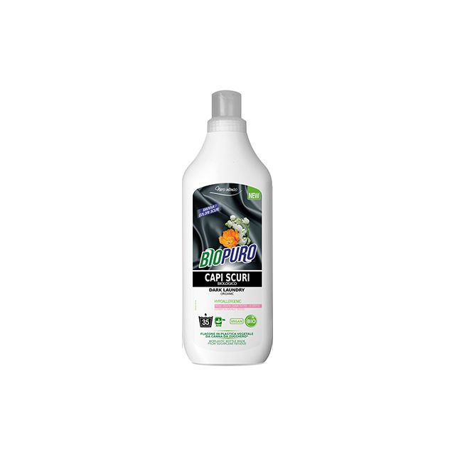 Detergent bio hipoalergen pentru rufe negre/inchise la culoare 1000ml, Biopuro