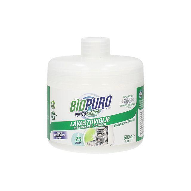Detergent bio hipoalergen praf pentru masina de spalat vase 500g, Biopuro