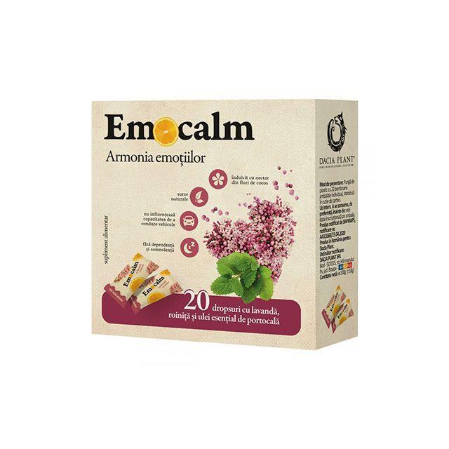 Emocalm Drops cu lavanda si roinita, fara zahar 20 buc, Dacia Plant
