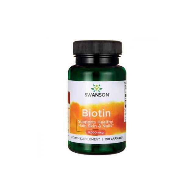 Vitamina B7 (biotina) 5mg 100 cps, Swanson