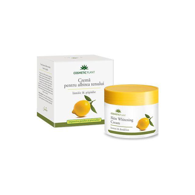 Crema pentru albirea tenului cu extract de lamaie si papadie 50ml, Cosmetic Plant