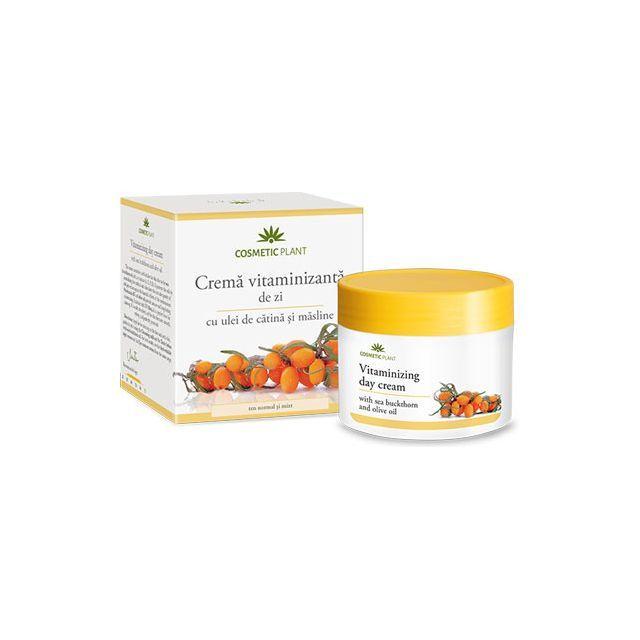 Crema vitaminizanta de zi cu ulei de catina si masline 50ml, Cosmetic Plant