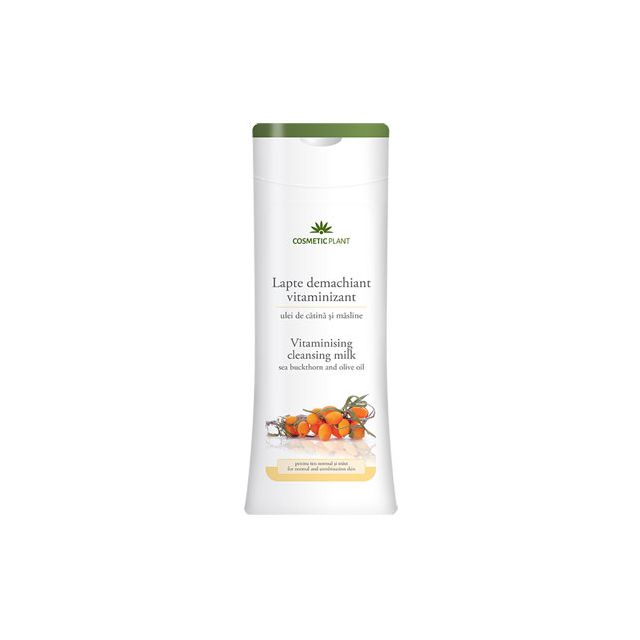 Lapte demachiant vitaminizant cu ulei de catina si masline 200ml, Cosmetic Plant