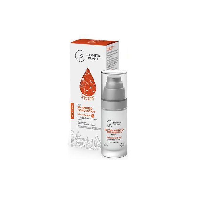 Ser antirid concentrat cu acid hialuronic 4D & extract de ceai verde 30ml, Cosmetic Plant
