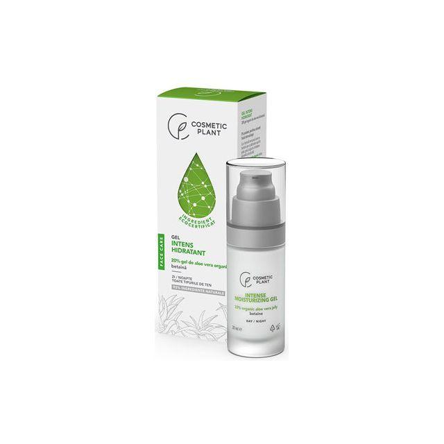 Gel intens hidratant cu 20% gel de aloe vera organic & betaina 30ml, Cosmetic Plant