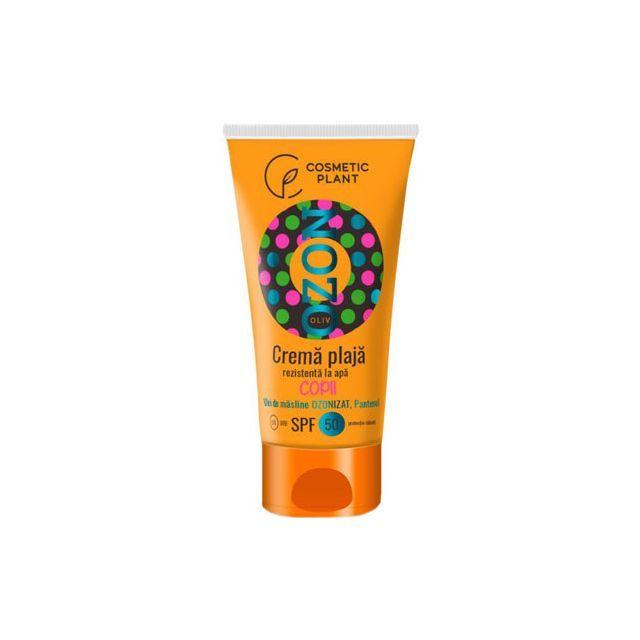 Crema plaja pentru copii Ozon SPF50 rezistenta la apa cu ulei de masline ozonizat 150ml, Cosmetic Plant