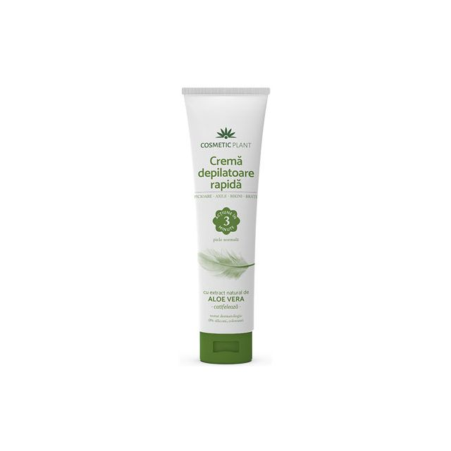 Crema depilatoare rapida cu extract natural de aloe vera 150ml, Cosmetic Plant
