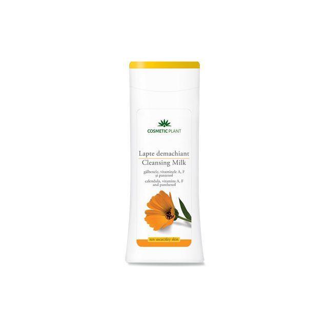 Lapte demachiant cu extract de galbenele, vitaminele A, F si pantenol 200ml, Cosmetic Plant