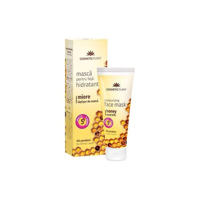 Masca hidratanta pentru fata cu miere si laptisor de matca 50ml, Cosmetic Plant