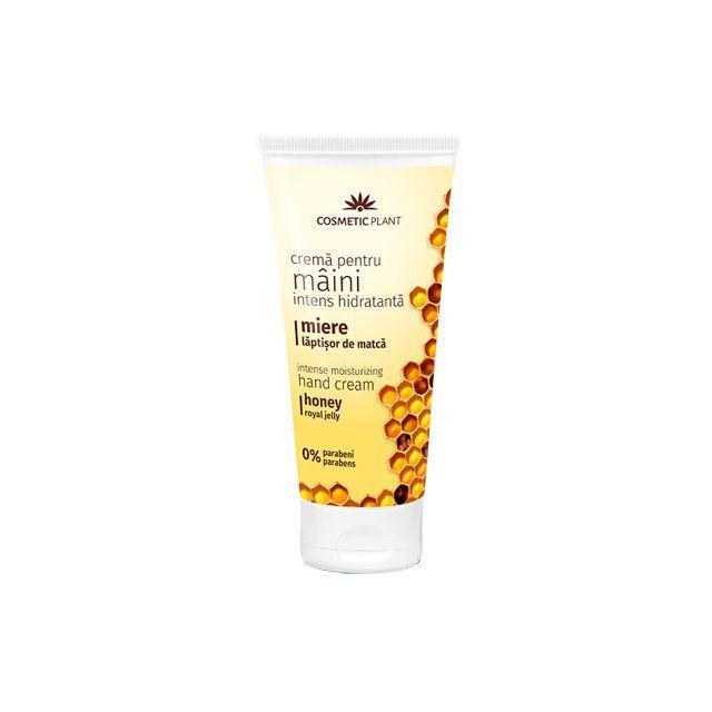 Crema intens hidratanta pentru maini cu miere si laptisor de matca 100ml, Cosmetic Plant