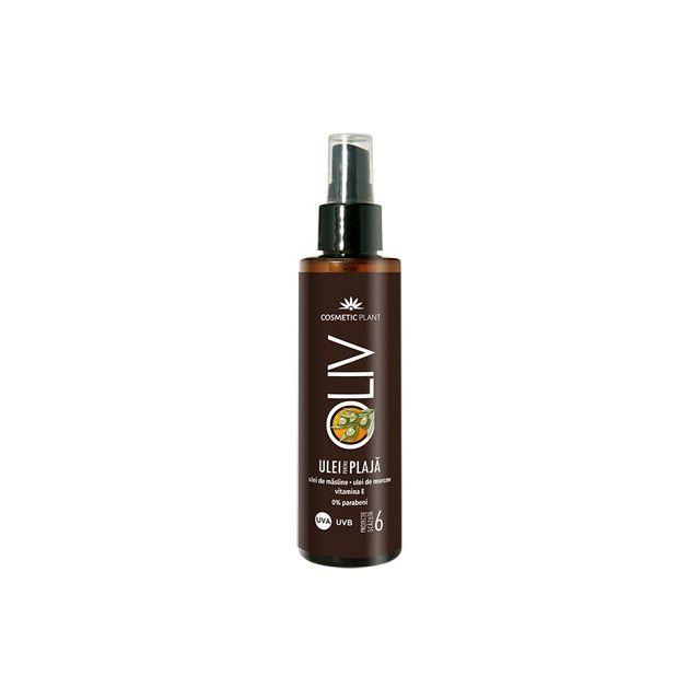 Ulei pentru plaja Oliv SPF 6 cu ulei de morcov, ulei de masline si vitamina E 200ml, Cosmetic Plant