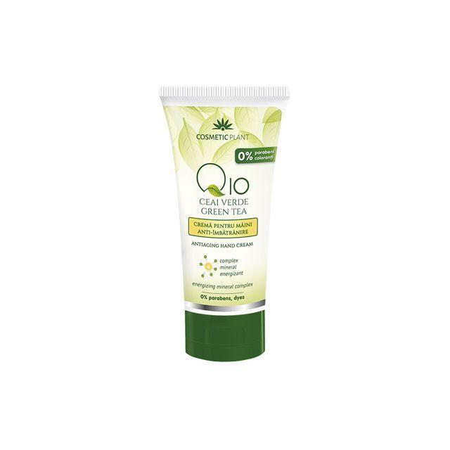 Crema maini anti-imbatranire Q10 + ceai verde si complex mineral energizant 100 ml, Cosmetic Plant