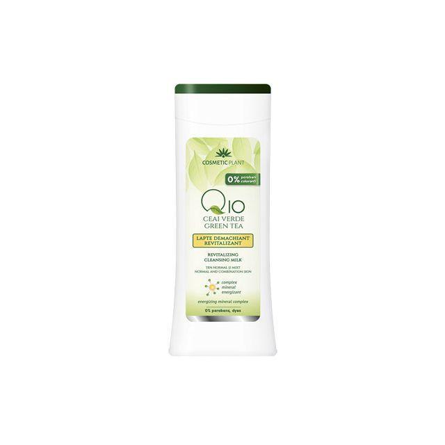 Lapte demachiant antirid Q10 + ceai verde si complex mineral energizant 200ml, Cosmetic Plant
