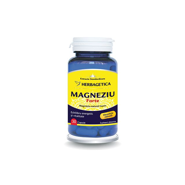 Magneziu Forte 30 cps, Herbagetica