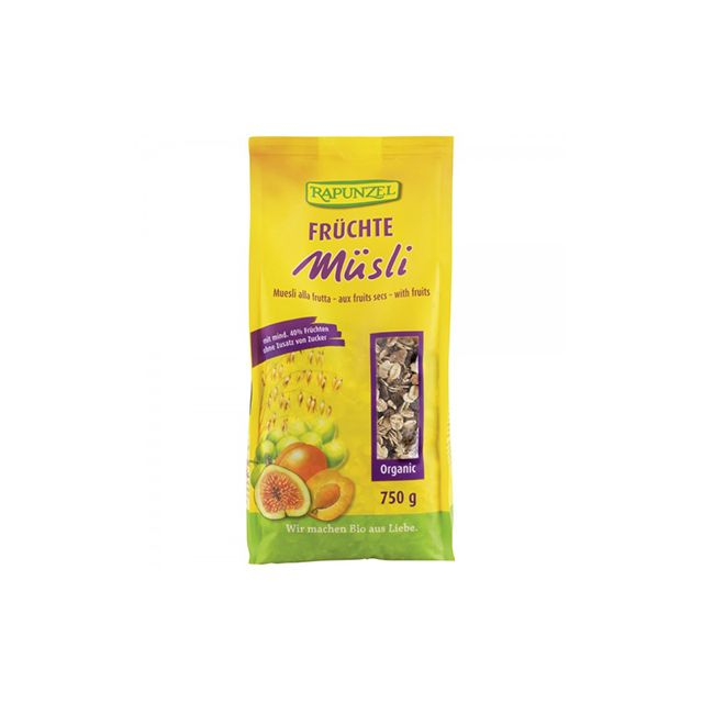 Musli de fructe bio 750g, Rapunzel