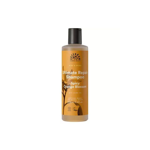 Sampon pentru par deteriorat si uscat Rise & Shine portocale aromate 250ml, Urtekram