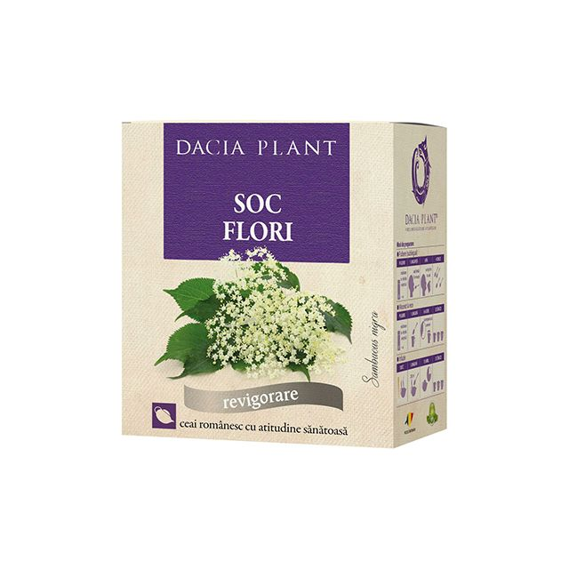 Ceai de Flori de Soc 50g, Dacia Plant