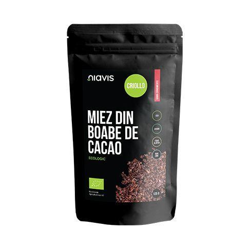 Miez din Boabe de Cacao Criollo Ecologice/Bio 125g, Niavis