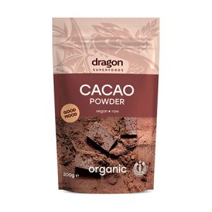 Cacao pulbere raw bio Criollo 200g, Dragon Superfoods