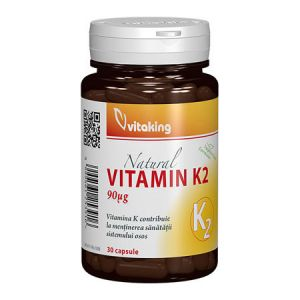 Vitamina K2 naturala 30 cps, Vitaking