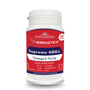 Supreme Krill Omega3 Forte 60 cps, Herbagetica